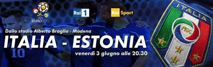 Qualificazioni europei: Italia - Estonia su Rai 1, Rai HD e streaming