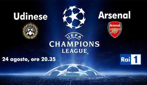 Rai Sport: Udinese - Arsenal e tutti i gol della Champions