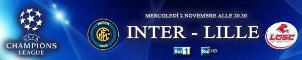 Mercoledi di Champions con Inter - Lille diretta tv su Rai HD e streaming