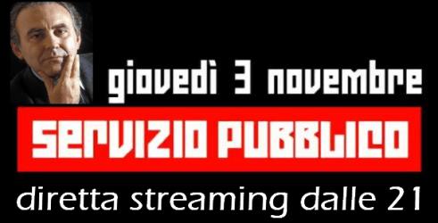 """Michele Santoro, """"Servizio Pubblico"""": diretta tv e streaming"""