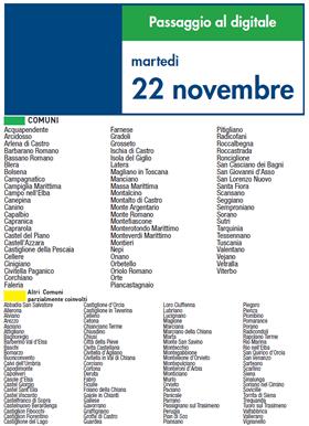 Martedì 22 Novembre | Digitale terrestre: Dtti.it