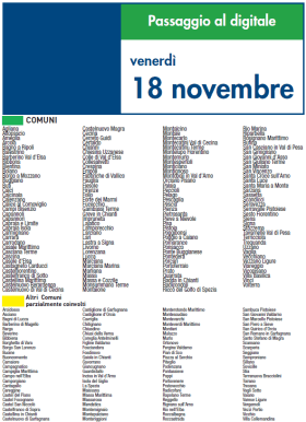 Venerdi 18 Novembre | Digitale terrestre: Dtti.it