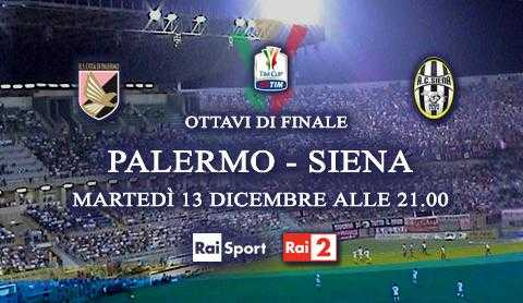 Rai 2: sfida di Coppa Italia fra Palermo e Siena | Digitale terrestre: Dtti.it