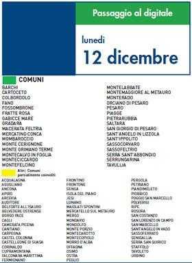 Lunedi 12 Dicembre | Digitale terrestre: Dtti.it