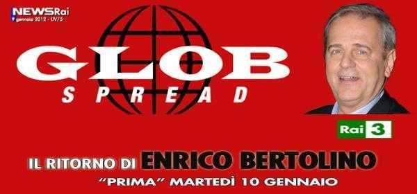 """Ritorna Enrico Bartolino su Rai 3 con """"Glob Spread""""   Digitale terrestre: Dtti.it"""