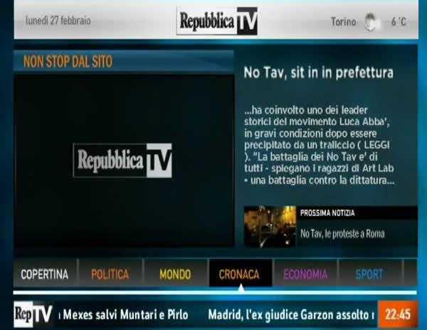 Nuovo format grafico per Repubblica TV | Digitale terrestre: Dtti.it