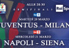 Semifinali Coppa Italia: Juventus - Milan e Napoli - Siena, diretta tv in HD e streaming | Digitale terrestre: Dtti.it