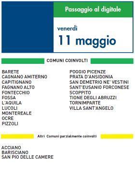 Switch Off Venerdì 11 Maggio   Digitale terrestre: Dtti.it