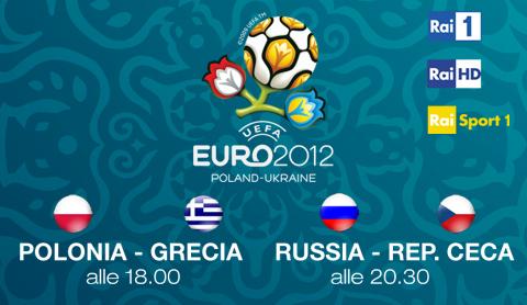 Al via Euro 2012, questa sera Polonia - Grecia e Russia - Rep. Ceca su Rai 1 e Rai HD