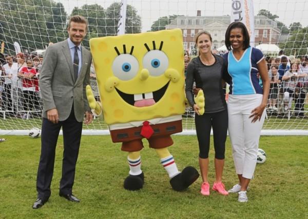 Olimpiadi Di Londra: Spongebob con Michelle Obama e David Beckham!