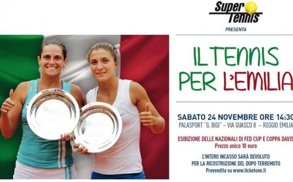 Tennis per L'Emilia live sabato su SuperTennis dalle ore 14