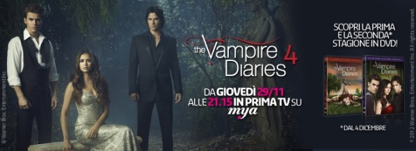 """Al via questa sera su Mya la quarta stagione di """"The Vampire Diaries"""""""
