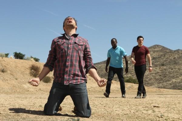 MTV_NEW GIRL_ Nick (Jake Johnson), Winston (Lamorne Morris), Schmidt (Max Greenfield)