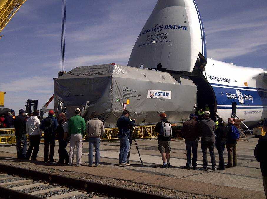 SES-6 giunto al lancio; il satellite è giunto al cosmodromo di Baikonur   Digitale terrestre: Dtti.it