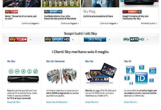 Sky rilancia la sua presenza sul web, on line i nuovi siti   Digitale terrestre: Dtti.it