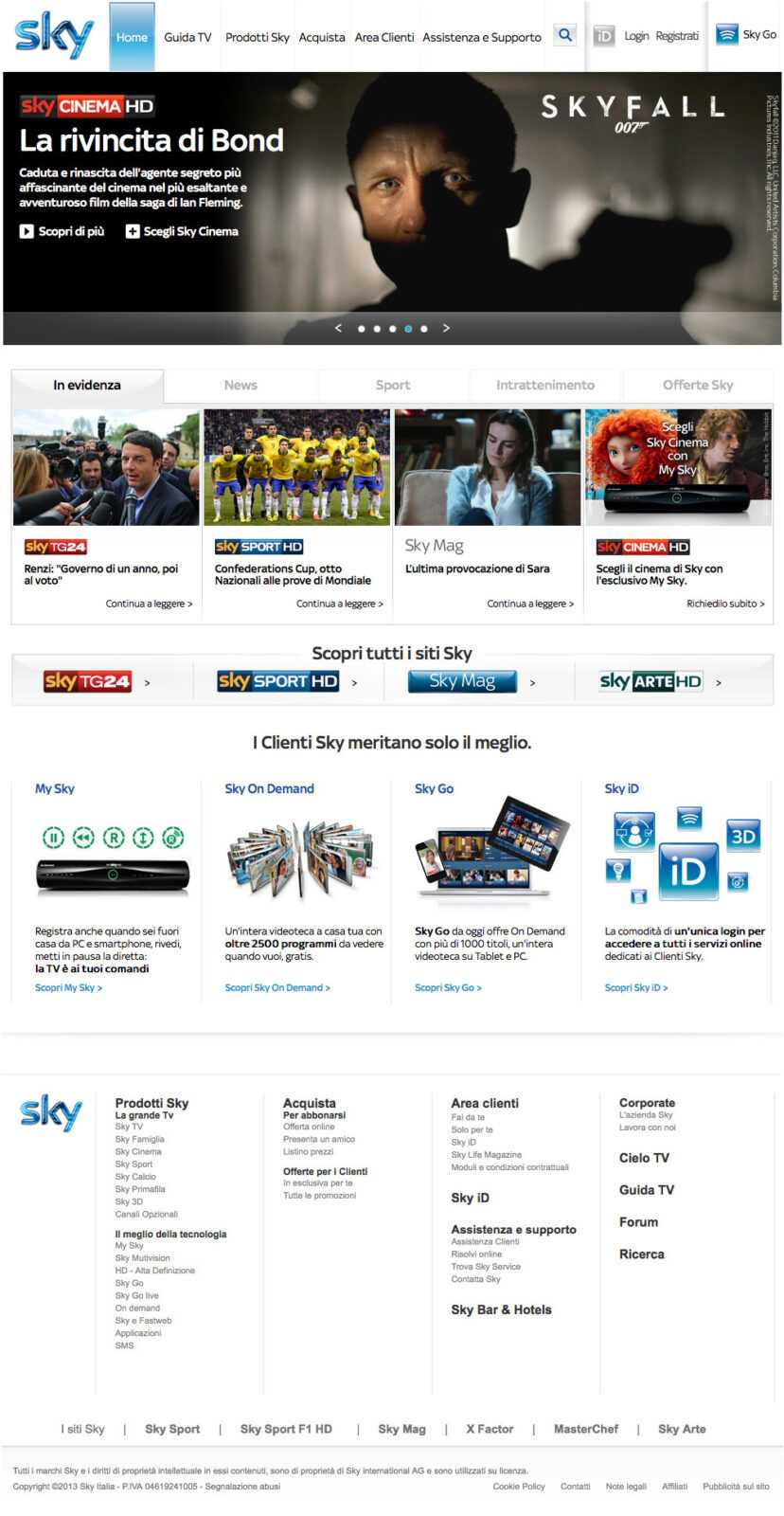 Sky rilancia la sua presenza sul web, on line i nuovi siti | Digitale terrestre: Dtti.it