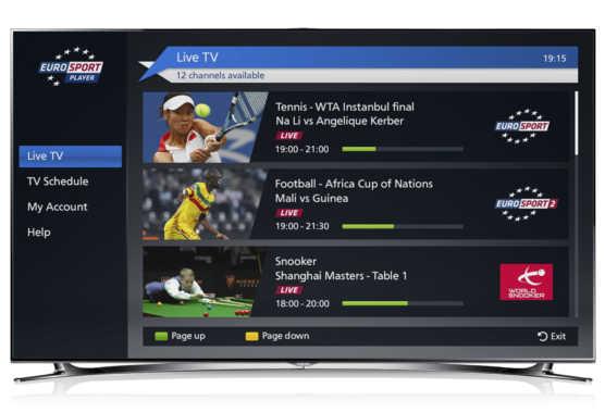 L'Eurosport Player sbarca anche su Samsung Smart Tv | Digitale terrestre: Dtti.it