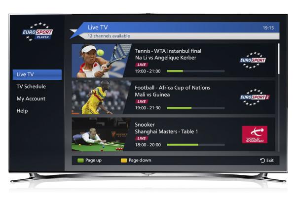 SAMSUNG LED TV F8000_Eurosport Player_1