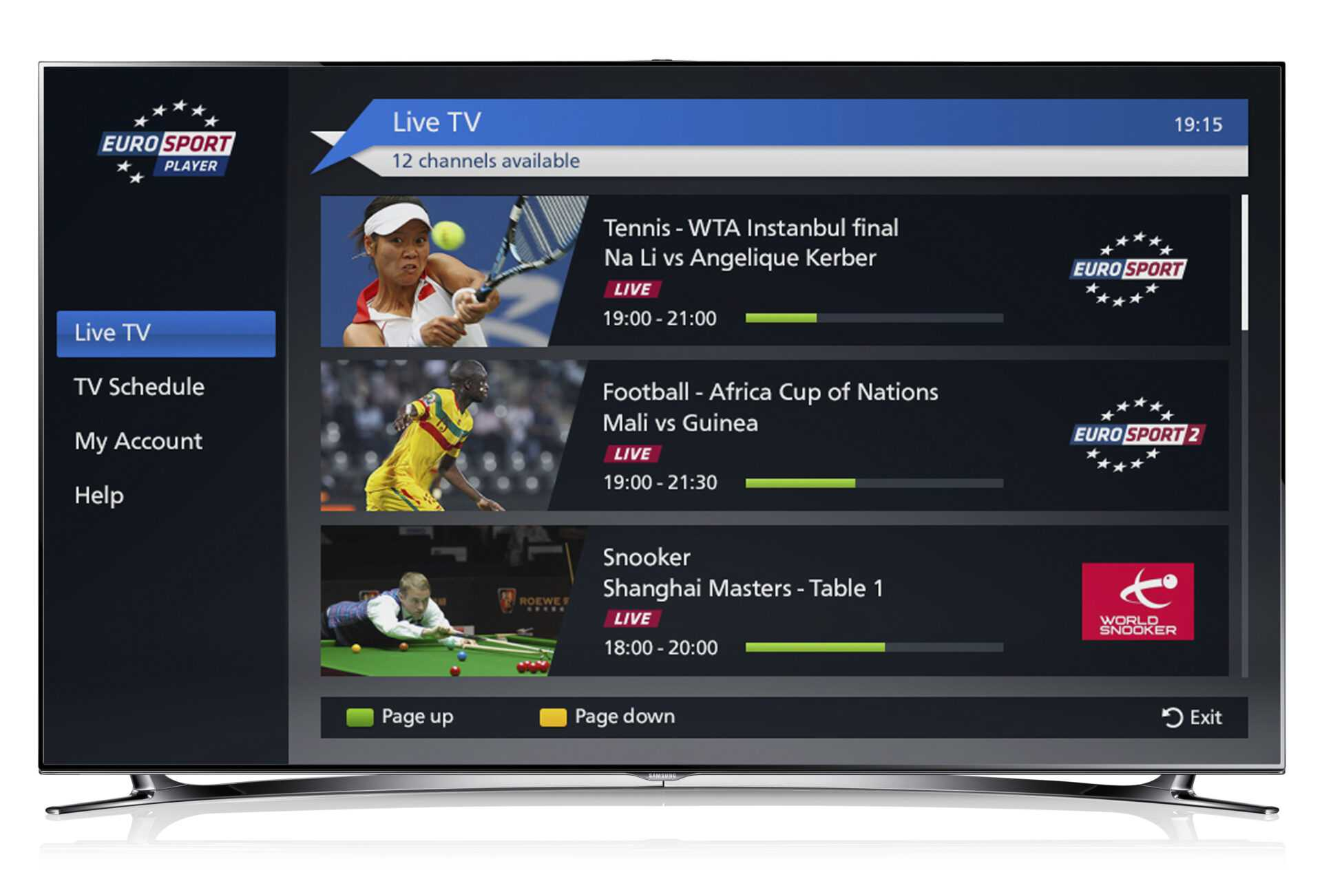 Eurosport Player App Smart Tv