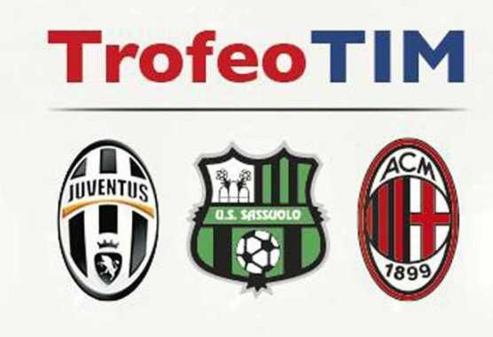 Trofeo TIM: Juventus - Milan - Sassuolo, diretta su Canale 5 in HD e streaming | Digitale terrestre: Dtti.it