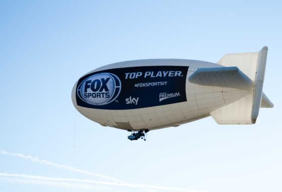 Il dirigibile di Fox Sports sorvola le coste Italiane | Digitale terrestre: Dtti.it