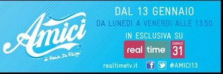 "Real Time lancia Amici ""Social TV Reloaded"", dal 13 gennaio dal lunedì al venerdì alle 18:10 | Digitale terrestre: Dtti.it"