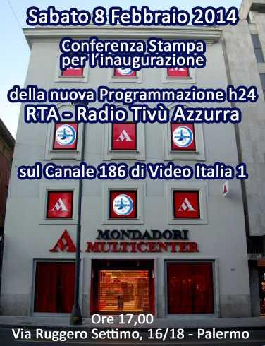 Conferenza stampa presentazione RTA - Radio Tivù Azzurra