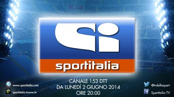 Attivata Sportitalia sul canale 153, trasmissioni al via dal 2 Giugno