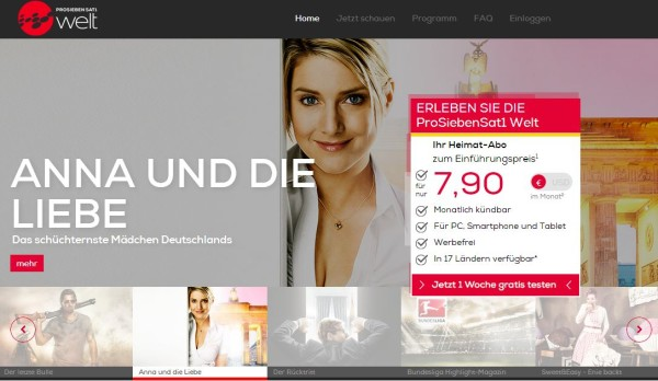 ProSiebenSat.1 Welt: un modo nuovo facile e veloce per connettersi e sentirsi a casa con i propri programmi preferiti!
