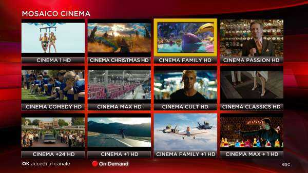 """Sky Cinema HD: dal 1 Dicembre sul canale 300 nasce il """"Mosaico Cinema"""""""