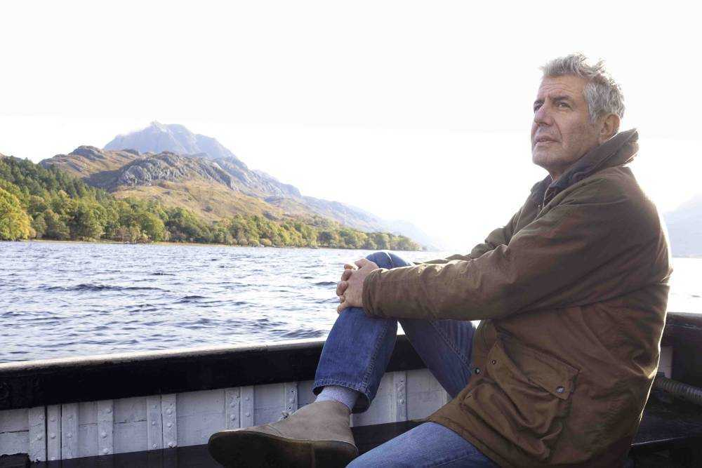Anthony Bourdain: Parts Unknown - 301 - Scotland Tony on the boat leaving Letterewe Estate in the Highlands.