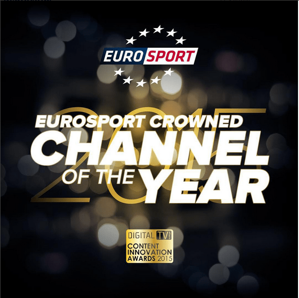 "Eurosport premiato come ""Channel of the Year"""