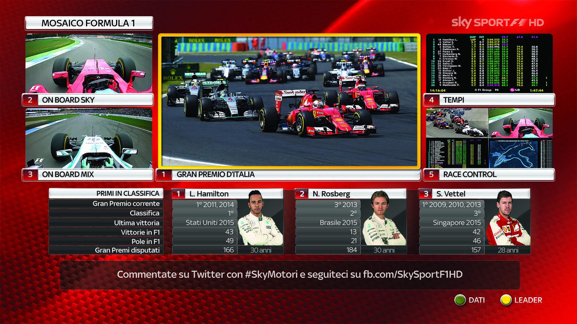 Formula 1, Gran Premio del Brasile 2016: orari diretta tv