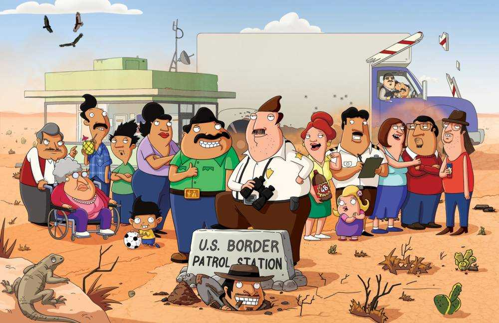 BORDERTOWN: As the Gonzalez and the Buckwald families paths begin to cross, the two families soon become bound by romance, conflict and, perhaps most importantly, friendship Ð a word that means the same, no matter what side of the border youÕre from on BORDERTOWN, a new animated comedy about two families living in a Southwest desert town on the U.S. - Mexico border, premiering Sunday, Jan. 3, at 9:30/8:30c on FOX.  BORDERTOWN ª and ©Ê2015 TCFFC ALL RIGHTS RESERVED.  CR: FOX