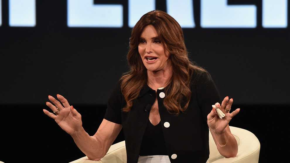 RANCHO PALOS VERDES, CA - FEBRUARY 02:  Executive Producer Caitlyn Jenner speaks at the AOL 2016 MAKERS conference at Terranea Resort on February 2, 2016 in Rancho Palos Verdes, California.  (Photo by Alberto E. Rodriguez/Getty Images)