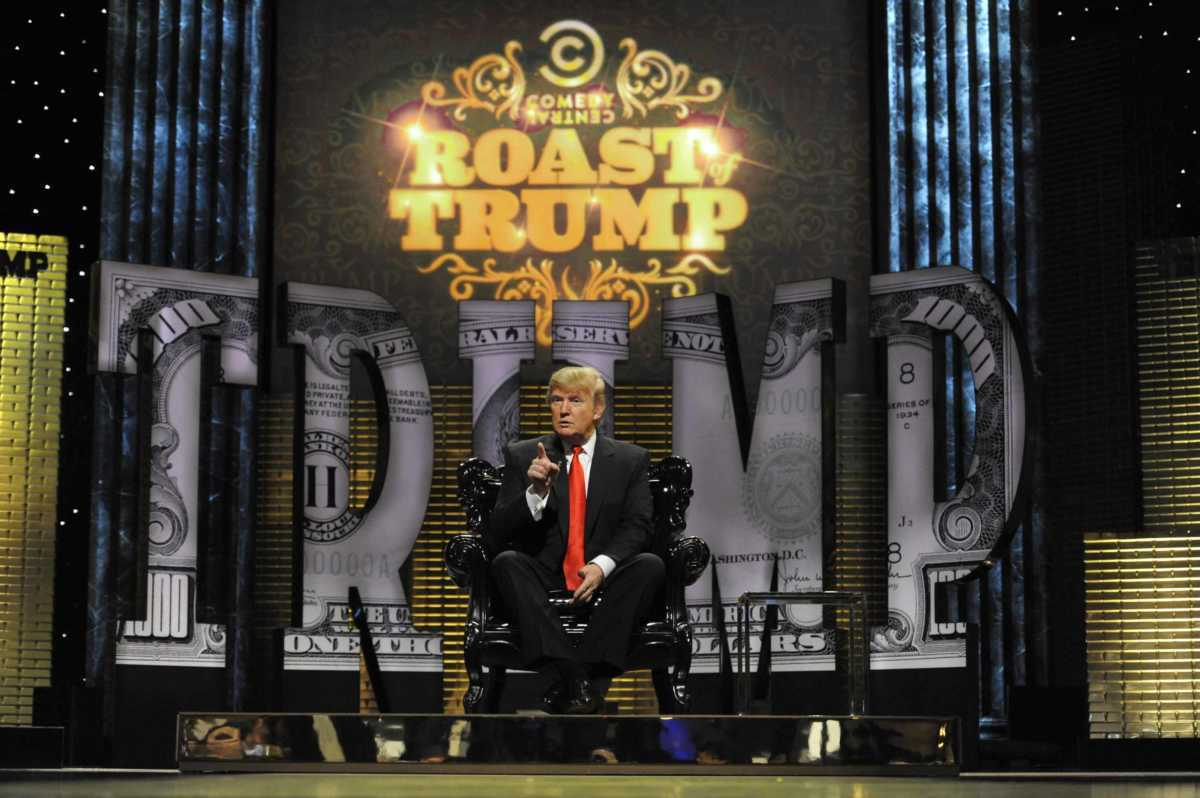 NEW YORK, NY- MARCH 9: Donald Trump appears on the Comedy Central Roast of Donald Trump at Hammerstein Ballroom, March 9, 2011 in New York City. (Photo by Frank Micelotta/PictureGroup)