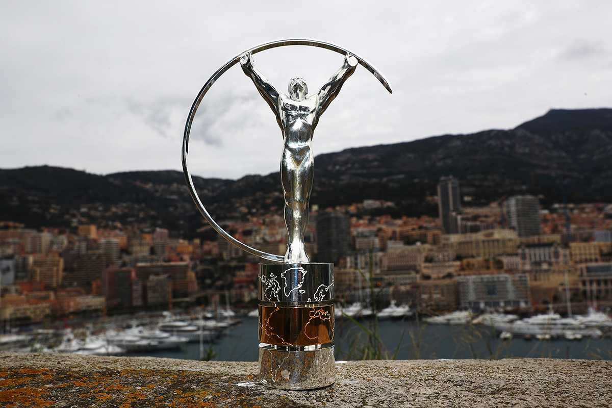 MONACO - FEBRUARY 13:  The Laureus World Sports Awards trophy stands by the Monaco harbour prior to the 2017 Laureus World Sports Awards on February 13, 2017 in Monaco, Monaco.  (Photo by Matthew Lewis/Getty Images for Laureus)