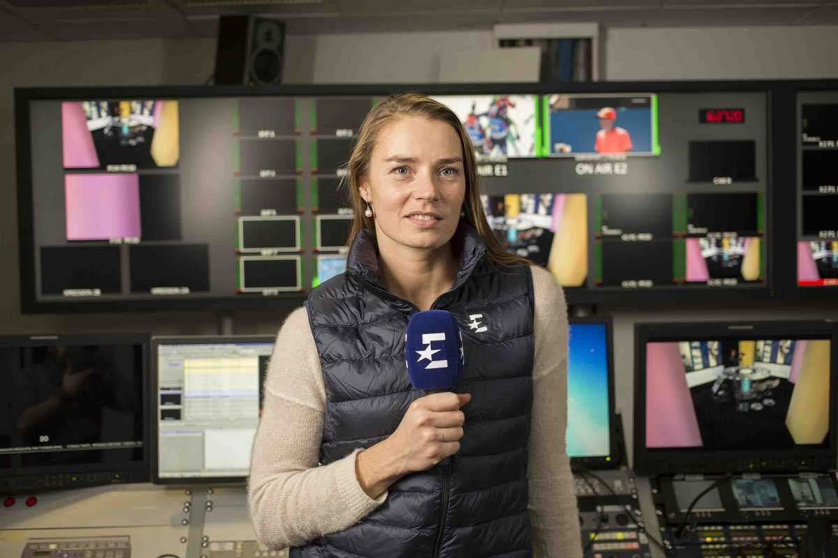 Paris. France le 12 janvier 2017. Portrait of Tina Maze. Eurosport Chanel.