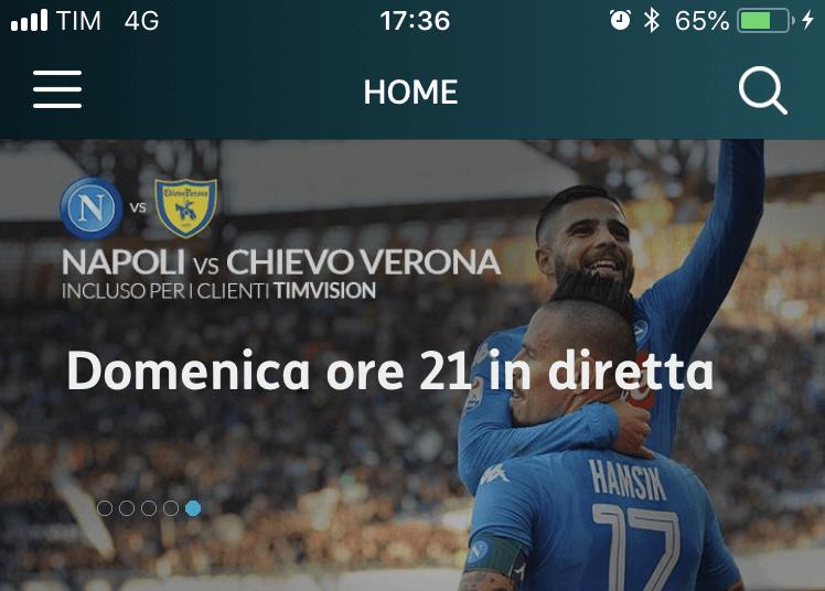 Su TIMvision tutte le amichevoli estive del Napoli Calcio