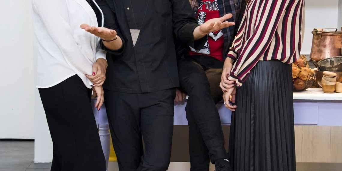 Gian Mattia D'Alberto / lapresse 21-10-2018 Milano Spettacolo Cuochi e fiamme nella foto: DEBORA VILLA, SIMONE RUGIATI, LORENZO SANDANO,CHIARA MACI