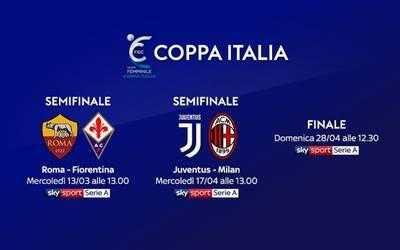 Coppa Italia femminile, semifinale: orari diretta tv e streaming