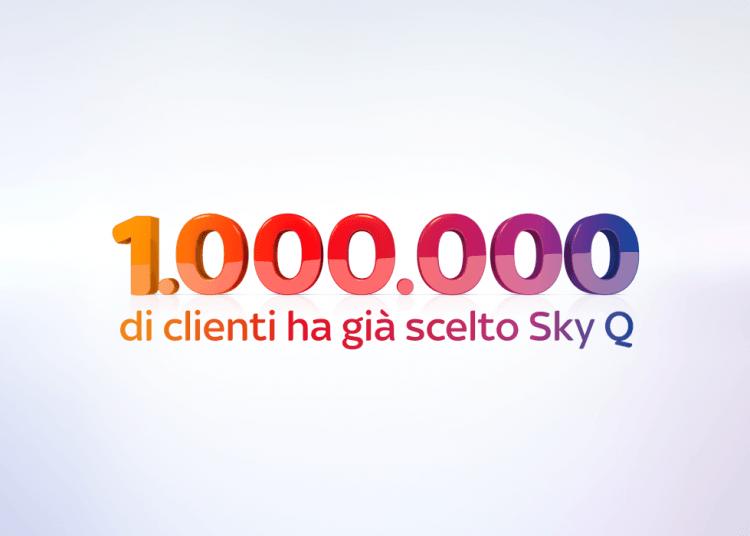 Sky festeggia un milione di clienti che ha già scelto Sky Q