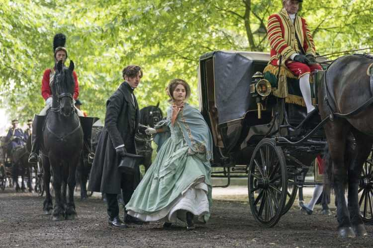 Picture Shows: Prince Albert played by Tom Hughes and Queen Victoria played by Jenna Coleman