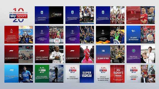 Natale 2019, un decennio di Sky Sport