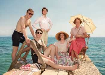 Leslie Durrell (CALLUM WOODHOUSE), Larry Durrell (JOSH O'CONNOR), Gerry Durrell (MILO PARKER), Margo Durrell (DAISY WATERSTONE) & Louisa Durrell (KEELEY HAWES)