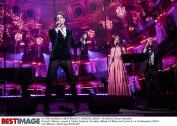 Exclusif - Mika en concert à l'Opéra Royal de Versailles, diffusé le 5 février sur France 5. Le 16 décembre 2020 © Cyril Moreau / Bestimage Exclusive - No Web No Blog pour Belgique et Suisse